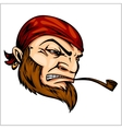 Pirate Mascot with Bandana and pipe vector image