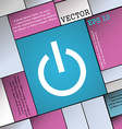 Power icon sign Modern flat style for your design vector image