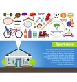 Sport store Sports equipment and sports clothing vector image