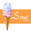 Vanilla strawberry ice cream vector image