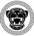 panther of aztec stencil second variant vector image vector image