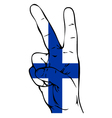 Peace Sign of the Finnish flag vector image vector image