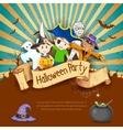 Kids in Halloween Party vector image