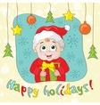 Create a Vintage-Style Christmas Card vector image
