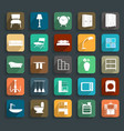 Furniture flat icons vector image