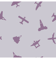 Seamless background with different airplanes vector image