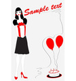 funky birthday card vector image vector image