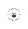 Bear Retro Vintage Insignia or Logotype vector image vector image