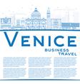 Outline Venice Skyline Silhouette vector image