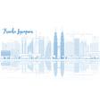 Outline Kuala Lumpur Skyline vector image