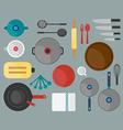 Kitchen tool flat design vector image