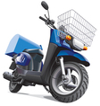 motorbike for delivery goods vector image