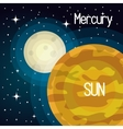 astronomy sun system solar planets isolated vector image