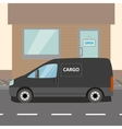 Black delivery Van vector image