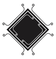 elegant frame drawing isolated icon vector image