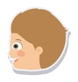 head little boy smiling isolated vector image