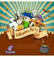 Kids in Halloween Party vector image