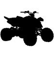 quad bike vector image