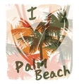 Tropical summer print with slogan for t-shirt vector image