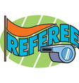Referee vector image