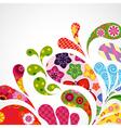 Splash of floral vector image vector image
