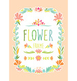 Flower Frame Hand Drawn vector image vector image