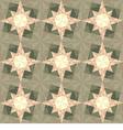 seamless set geometric pattern with stars vector image vector image