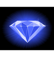 faceted blue diamond vector image