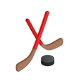 Hockey icon isometric 3d style vector image