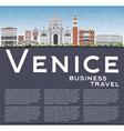 Venice Skyline Silhouette vector image vector image