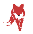 Running Fox Icon vector image vector image