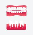 cartoon false teeth vector image