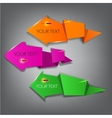 Colorful arrow stickers labels and tags vector image