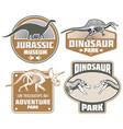 dinosaur label design - vintage dino land banners vector image