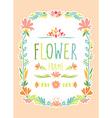 Flower Frame Hand Drawn vector image