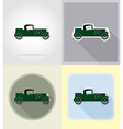 old retro transport flat icons 03 vector image