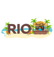 rio travel palm summer lounge chair tropical vector image