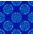 Seamless Mandala Pattern over blue vector image
