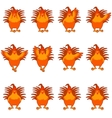 Set of golden rooster flat icons vector image
