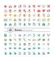Set of web icons Season weather vector image