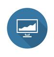 Statistics icon Flat Design vector image