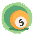Billiard Ball Number 5 Orange vector image
