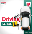 Driving School vector image