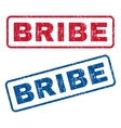 Bribe Rubber Stamps vector image
