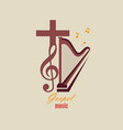 Emblem christian music vector image