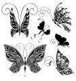 tattoo butterflies vector image vector image