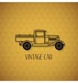Retro pickup truck car vintage outline style vector image