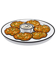 pancakes with sauce vector image vector image
