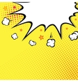 Boom Comic book explosion on top background vector image