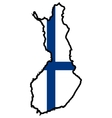 Map in colors of Finland vector image vector image